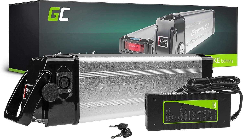 Green Cell GC® Bateria Bicicleta Electrica 24V 8.8Ah Silverfish Li-Ion E-Bike Batería + Cargador
