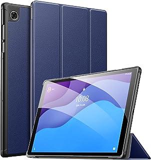 Lenovo Tab M10 HD ケース ATiC Lenovo Tab M10 HD 第2世代 2020 カバー 全面保護 軽量 耐衝撃 高級PC+PU オートスリープ機能対応 スタンドケース Indigo