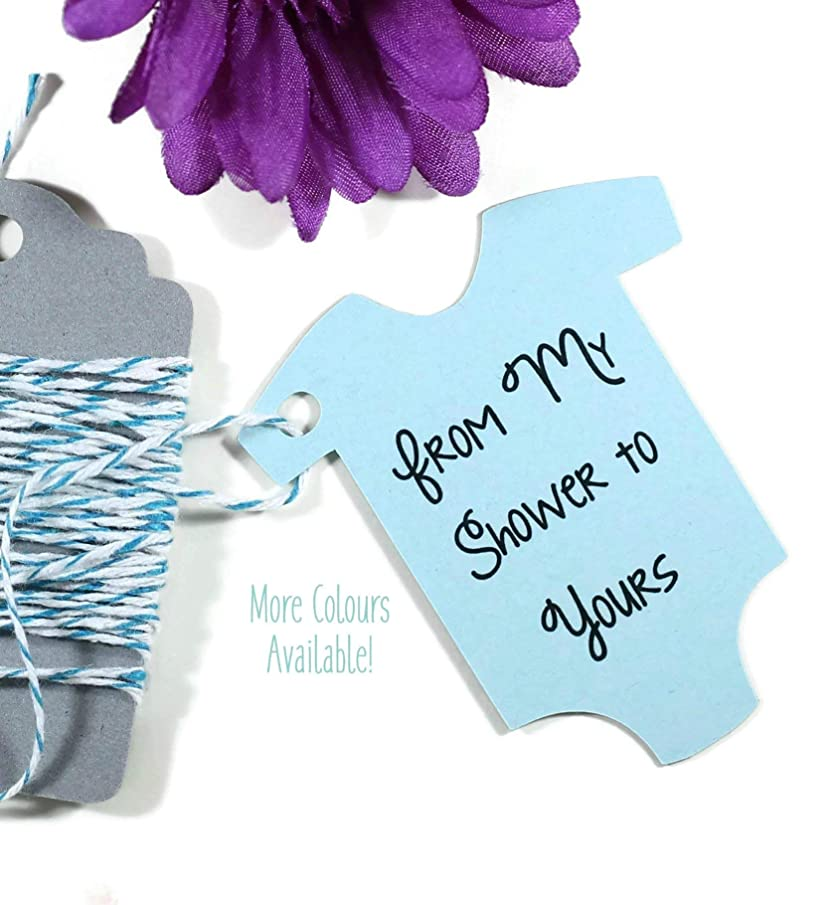 Light Blue Baby Shower Tags - From My Shower to Yours - Baby Sprinkle (Set of 20)