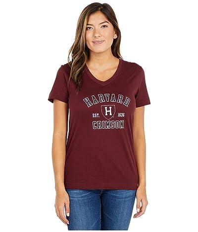 Champion College Harvard Crimson University 2.0 V-Neck T-Shirt (Maroon) Women