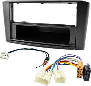 Watermark Vertriebs GmbH & Co. KG Radioblende Set geeignet für Toyota Avensis T25 2003 2008 mit ISO Adapter Kabel Antenne