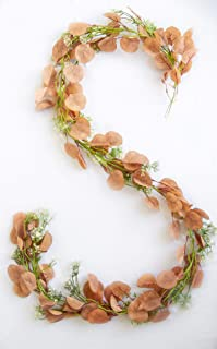 Artificial Eucalyptus Garland-Artificial Vines-Wall/Backdrop/Wedding/Floral/Table Runner/Decoration-Fake Greenery Leaves-Wreath Ivy-Hanging Rustic Garland-Faux Leaf And Vines-Ivy Garland (Rustic)