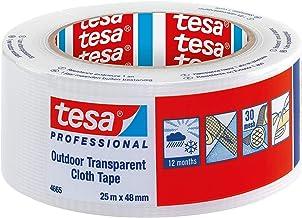 tesa Professional Duct Tape - Waterdichte Clear Outdoor Gaffer Tape voor reparatie, 48 mm x 25 m