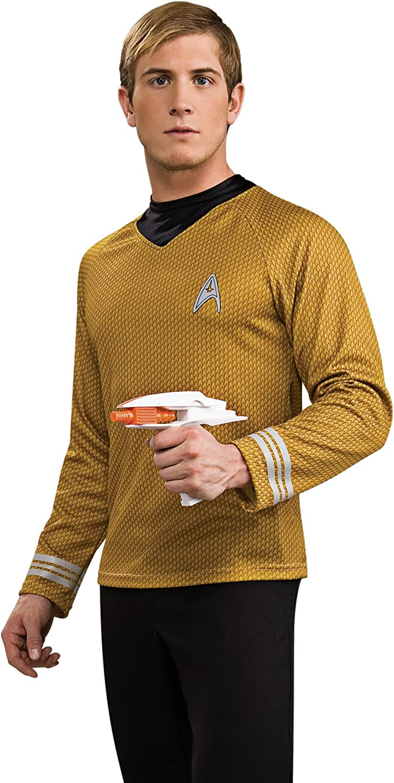 Star Trek Trek Trek - Captain James T. Kirk Movie Deluxe Shirt, Sci-Fi Kostümteil mit Emblem - XL B00BMD944M  Neu afa35f