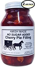 Amish Pie Filling No Sugar Added Cherry – TWO 32 Oz Jars