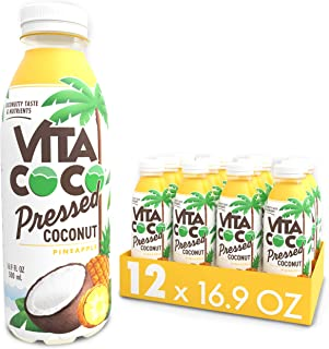 Vita Coco Coconut Water, Pressed Coconut Pineapple| Impossible To Hate | Smooth, Refreshing Coconut Taste |...