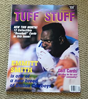 1991 Tuff Stuff Sports Price Guide Card Magazine Emmitt Smith Wayne Gretzky