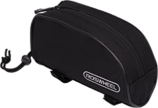 Roswheel 12654 Bike Bicycle Frame Top Tube Pannier Cycling Tool Pouch Bicycle Accessories Bag- Black