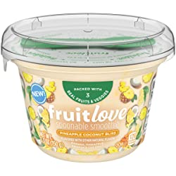 Fruitlove Pineapple Coconut Bliss Spoonable Smoothie (5.3 oz Cup & Spoon)