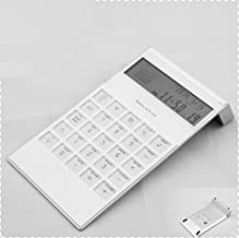 $30 » Calculator with Alarm Business Gifts Office Supplies Computer Brand-Digit (Color : White)