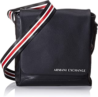 A|X Armani Exchange Leather Crossbody Bag with Striped Strap
