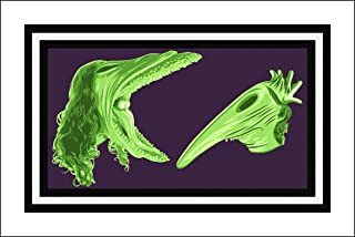 Plaid Design Beetlejuice Fine Art Print - 20x30 - The Maitlands' Scary Stretched Faces - Signed/Numbered Limited Edition Pop Art Giclée - Artwork by John Lathrop