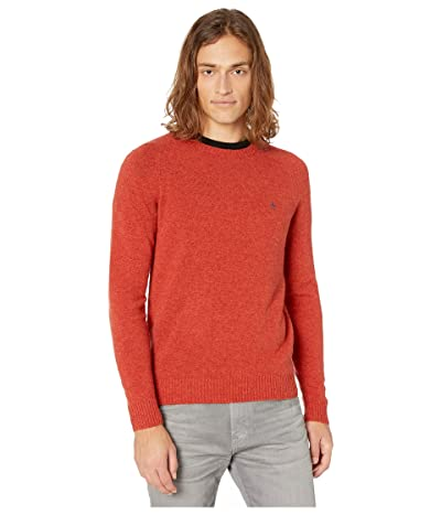 Original Penguin Lambswool Crew Neck Long Sleeve Sweater (Ketchup) Men