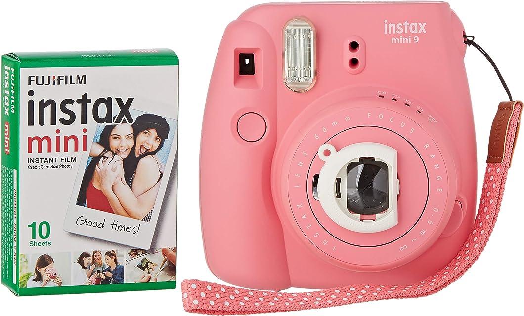 Fujifilm Instax Mini 9 - Cámara instantánea Cámara con 1x10 películas Rosa