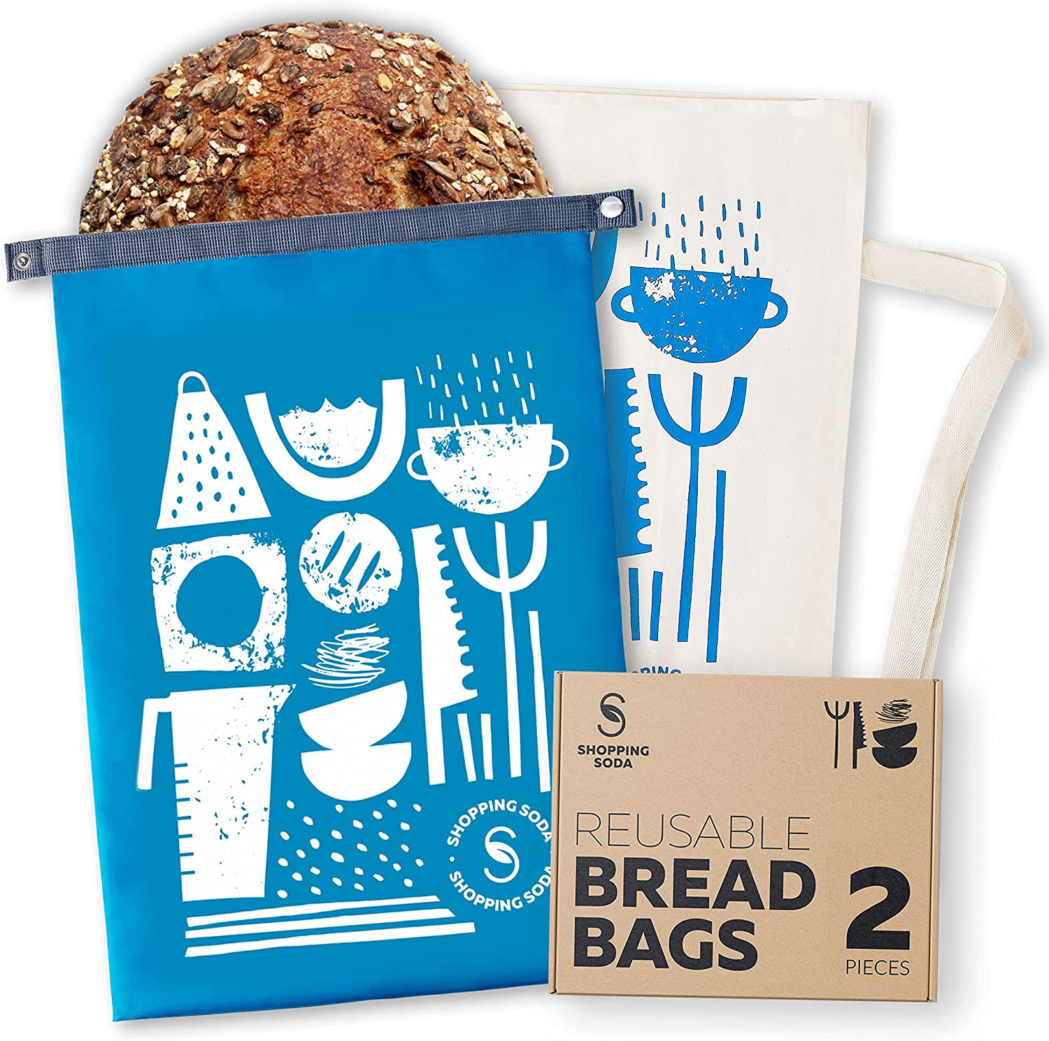 Super beauty product restock quality Large-scale sale top Reusable Bread Bags Zero Waste Storage Containers for - 2