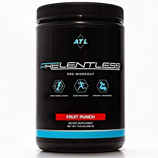 PRELENTLESS Pre Workout Powder with BCAA for Men & Women – Natural Preworkout Supplement for Strength, Endurance & Performance – Pre-Workout Powder for Muscle Growth & Clean Energy – 20 Servings