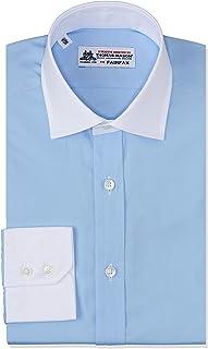 [フェアファクス] トーマスメイソンピンオックスセミワイドクレリックカラーシャツ 8000CLSW メンズ