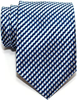 Retreez Wavy Zig Zag Stripe Pattern Woven Men's Tie Necktie - Various Colors