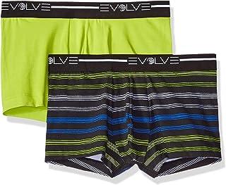 Evolve Men's Cotton Stretch No Show Trunk Underwear Multipack