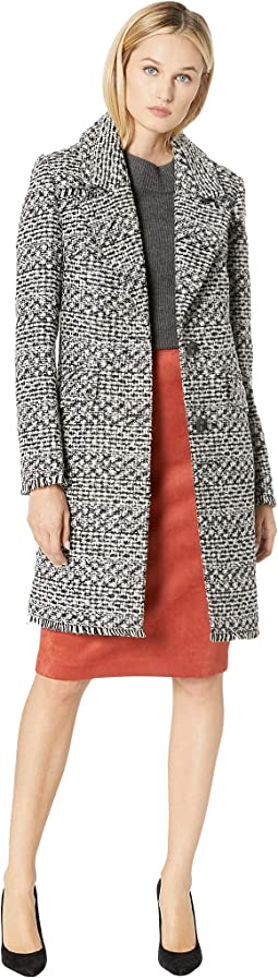 Bellerose Tweed Two-Button Notch Collar