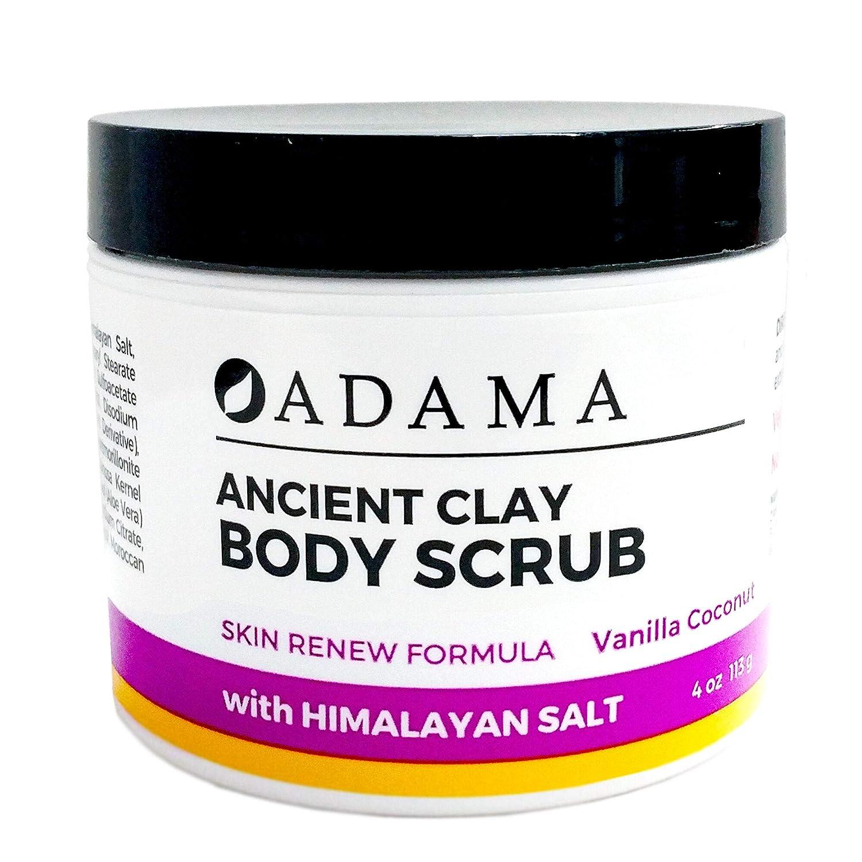 Adama Ancient Clay Tucson Mall Body Scrub Vanilla Zion Coconut 4 oz Dealing full price reduction Health S
