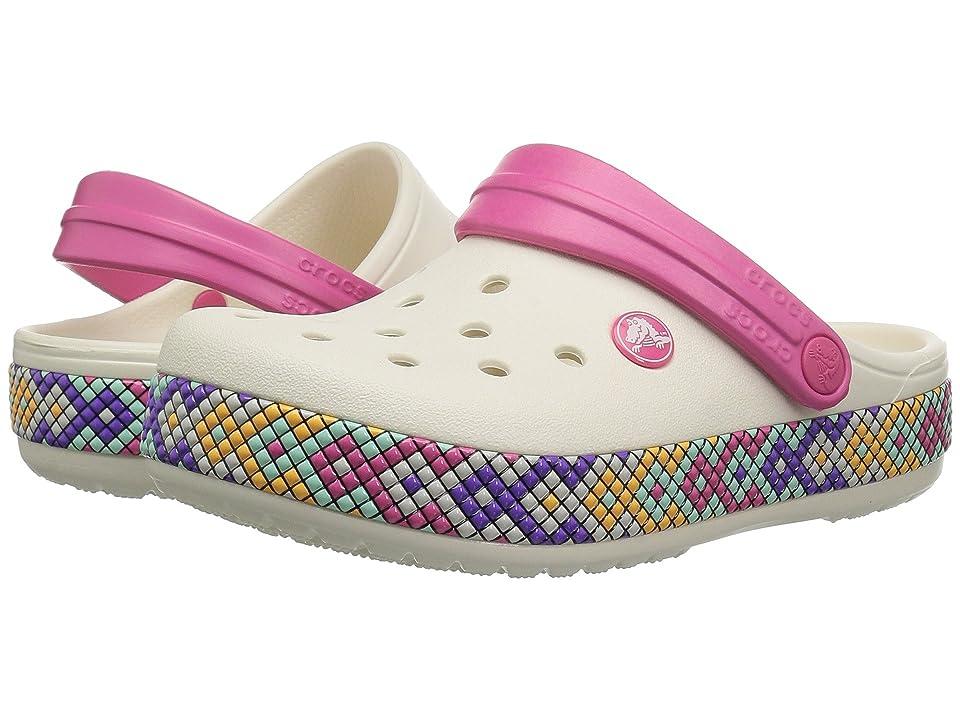 Crocs Kids Crocband Gallery Clog (Toddler/Little Kid) (Oyster) Kids Shoes