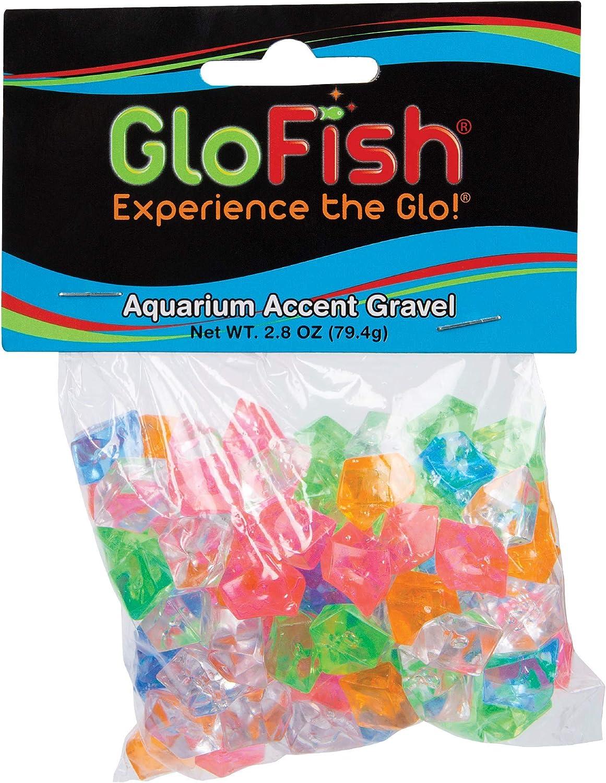 GloFish aquarium Industry No. 1 Accent Gravel 2.8 Ounces Co MultiColored Gems Discount mail order