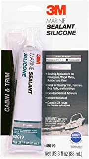 3M Marine Grade Silicone Sealant (08019) – For Boats and RVs – Clear – 3 Ounces