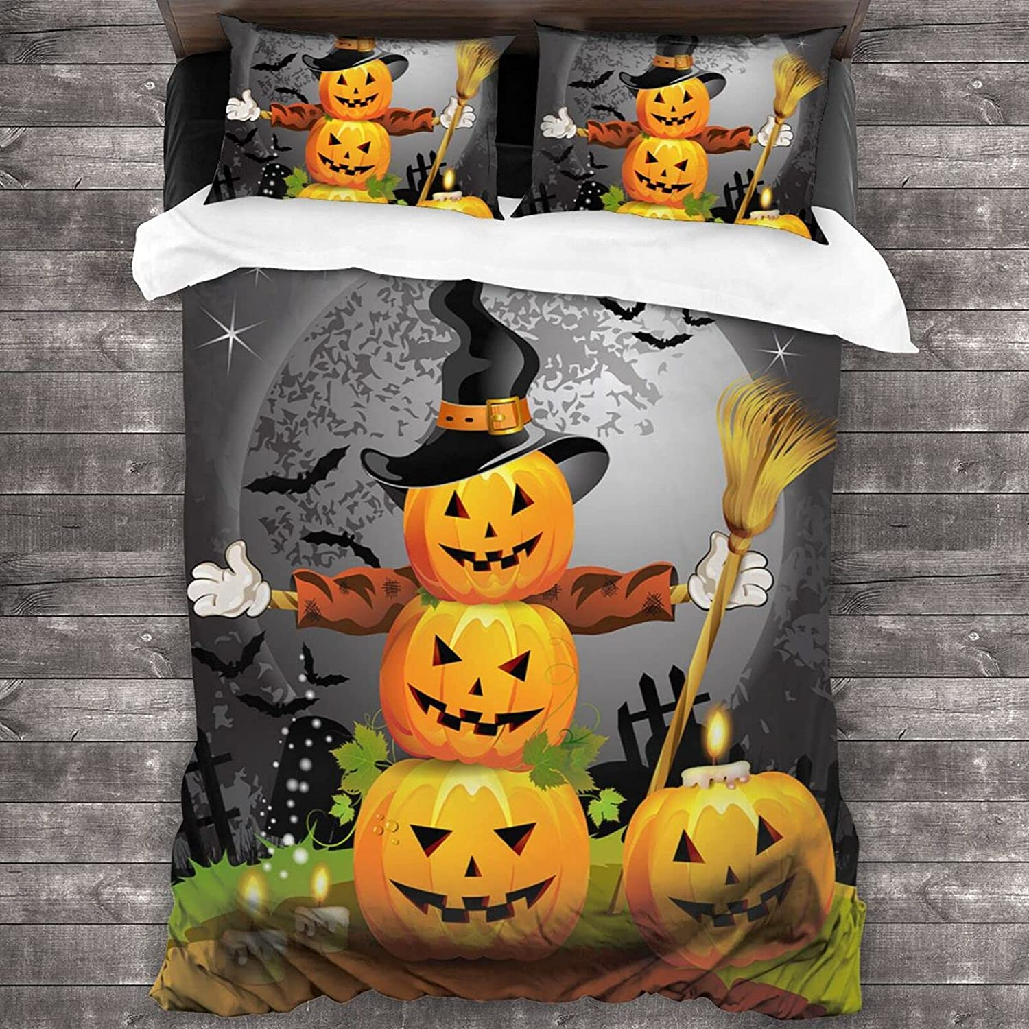 Ranking TOP7 SUPNON Halloween Pumpkin with Witches Hat Pri Pcs Sets 3 Special price for a limited time Bedding