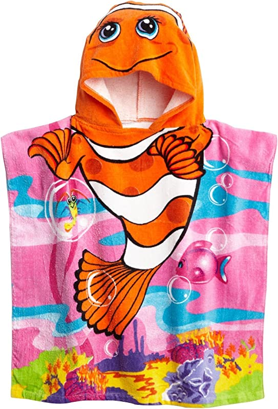 Lucky BEBE Kids 24 X48 100 Cotton Hooded Beach Towel Boys Girls Clownfish NEMO
