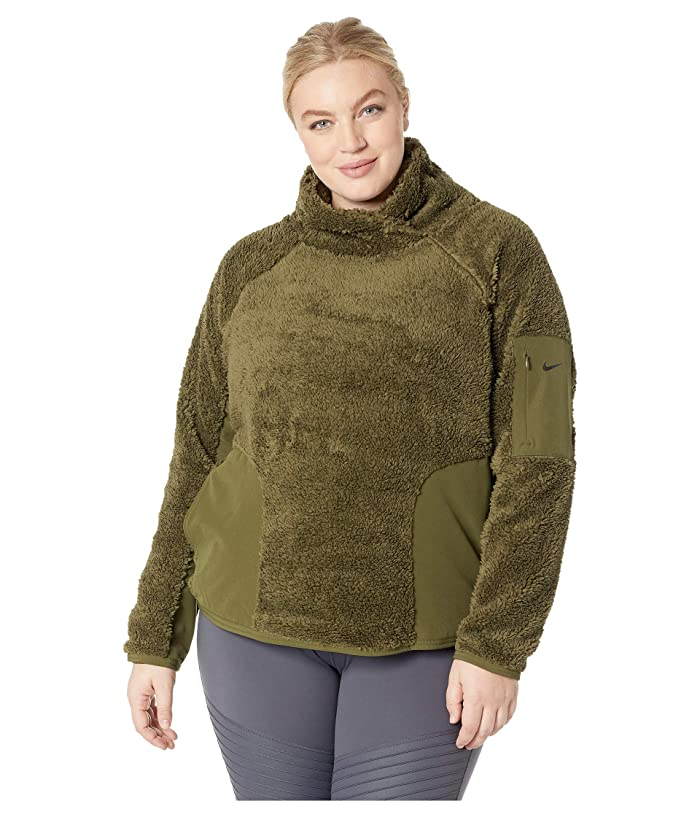 Nike Long Sleeve Pullover Sherpa Top (Size 1X-3X) | 6pm