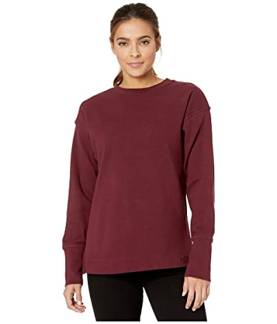The North Face Long Sleeve Outerlands Waffle (Deep Garnet Red) Women