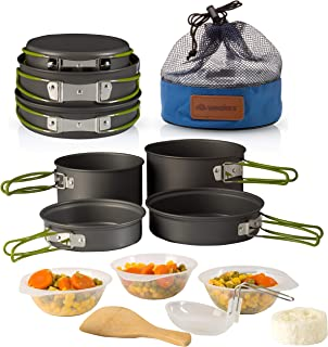 Sponsored Ad - Wealers Camping Cookware 11 Piece Outdoor Mess Kit Backpacking  Trailblazing add on   Compact  Lightweight ...