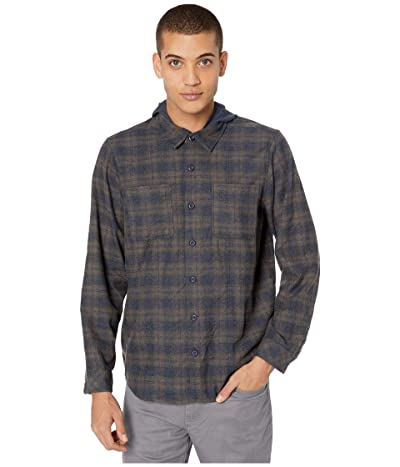 Hurley Crowley Washed Hooded Flannel (Obsidian) Men