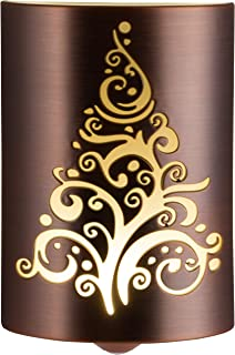 Lights by Night LED CoverLite Night Light, Whimsical Tree Pattern, Dusk to Dawn, Festive, Winter, Christmas Décor, Holiday Decoration, Oil Rubbed Bronze
