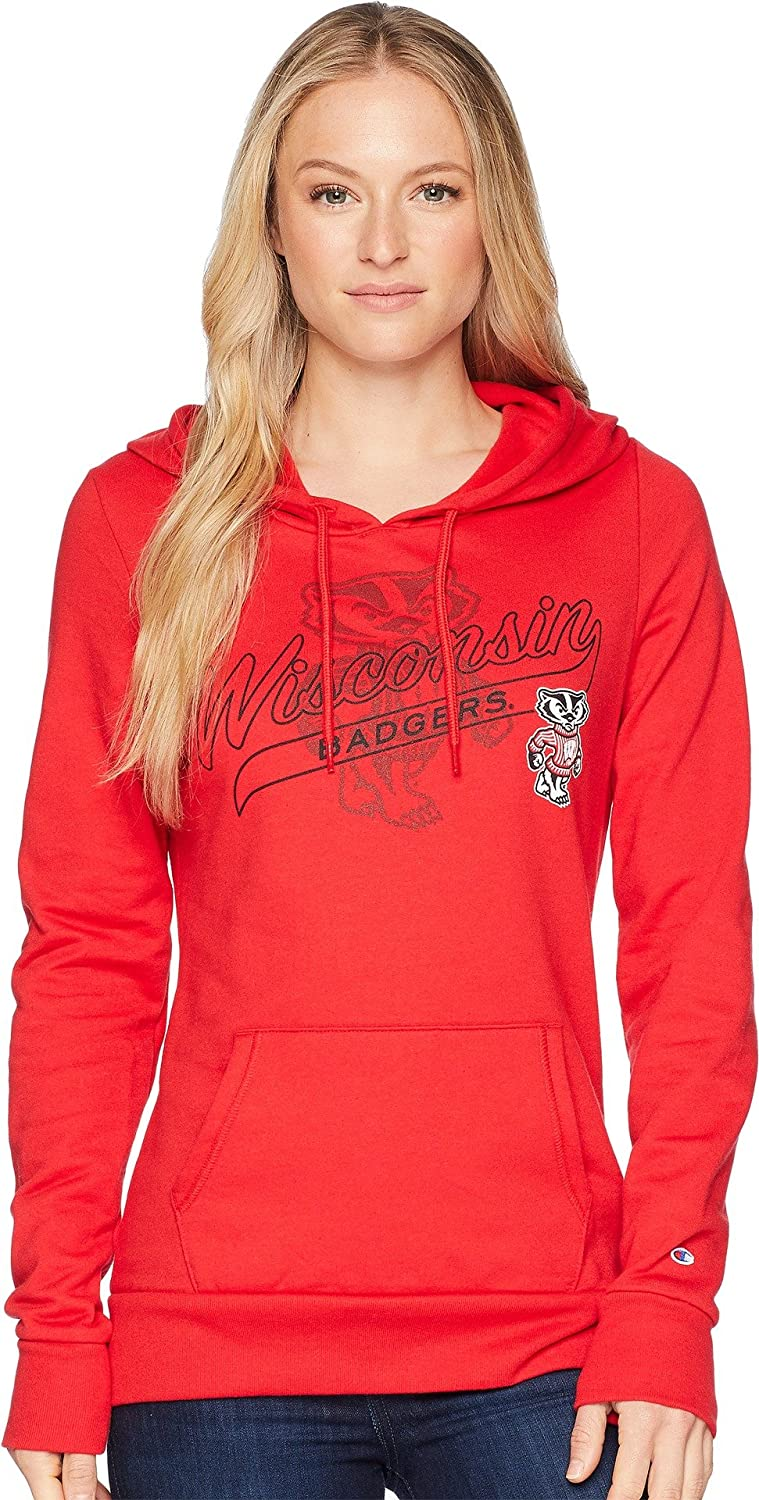 Champion College Womens Wisconsin Badgers Eco University Fleece Hoodie