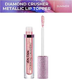 Lime Crime Diamond Crushers Iridescent Liquid Lip Topper, Summer - Sparkling Peach - Strawberry Scent - Enhances Mattes - For Face And Body - Wear Alone Or Over Lipstick - Vegan