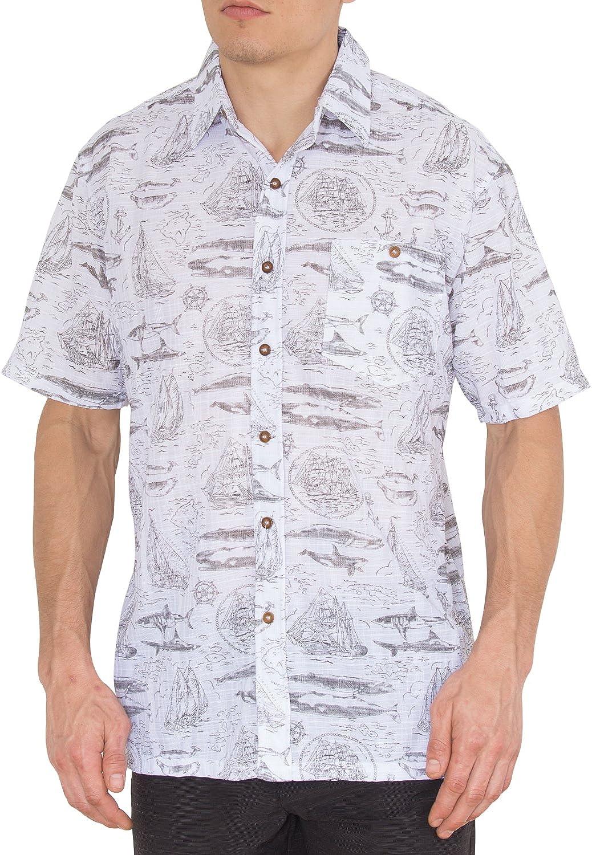 Nob Hill Hawaiian Shirt for Mens Button Down Short Sleeve Big Mens Shirts
