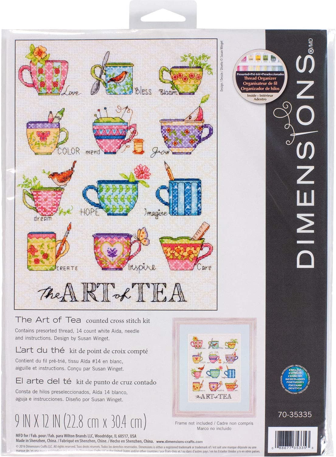 DIMENSIONS Needlecrafts The Art of Tea, Counted Cross Stitch Kit