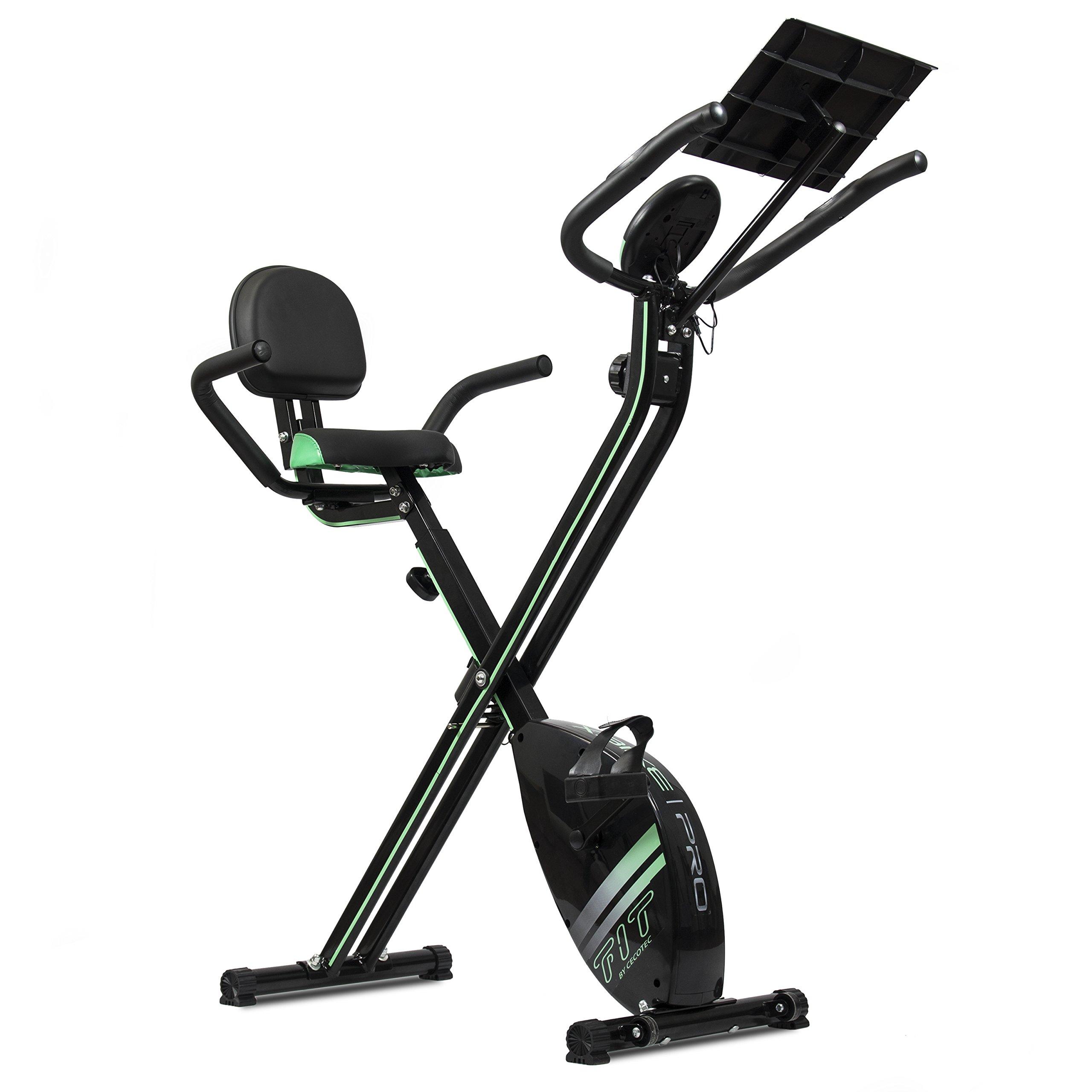 Cecotec Bicicleta Estática Plegable Magnética X-Bike Pro. Pulsómetro, Pantalla LCD, Resistencia Variable (8 niveles), Pedales de Máximo Agarre, 2,5kg Volante de Inercia.: Amazon.es: Deportes y aire libre