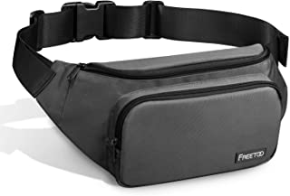 FREETOO Fanny Pack Waist Pack for Men,with Large Capacity,Waterproof and Wear-