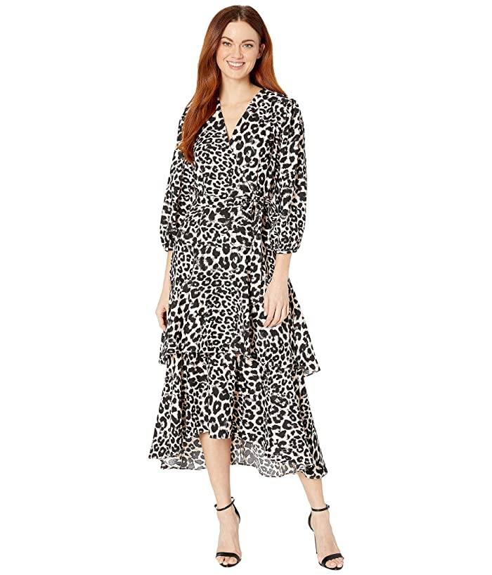 Animal Print Midi Dress (Petal Multi) Women's Dress