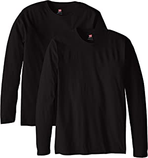 black long sleeve v neck shirt mens