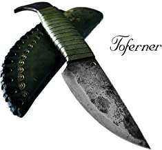 Toferner Original Gift-Knife - Bird Head - Hand Forged Knife - Sports- Hand Made Genuine Leather Case- Polished & Hardened Blade - Art Collection- Antiquity.Idea- By Beautiful Product