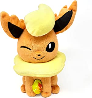 """Flareon 9"""" Plush Toy with Fire Stone"""