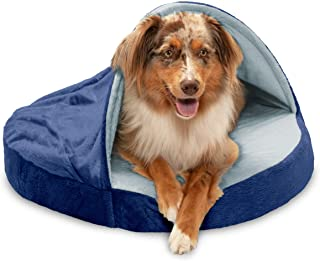 Furhaven Pet Dog Bed   Therapeutic Round Cuddle Nest Snuggery Burrow Blanket Pet Bed w/..
