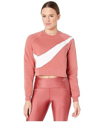 Nike NSW Swoosh Crew Fleece (Light Redwood/White) Women