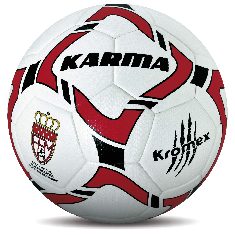 KROMEX Balón Fútbol Karma. Oficial R.F.F.M. (Blanco, 5): Amazon.es ...