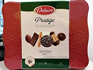 Delacre Prestige Luxury Belgian Chocolate Biscuit Assortment 45.8 Ounce Holiday Tin Assortment