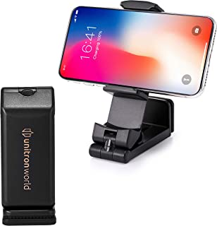 unitron world Cell Phone Stand Phone Holder for Desk Airplane Flight Adjustable Portable Phone Stand for Bed Compatible with iPhone 11 Pro X XS MAX XR 8 7 6 Android Phone Pixel Samsung Galaxy Note